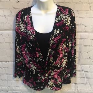 Briggs New York front knot blouse